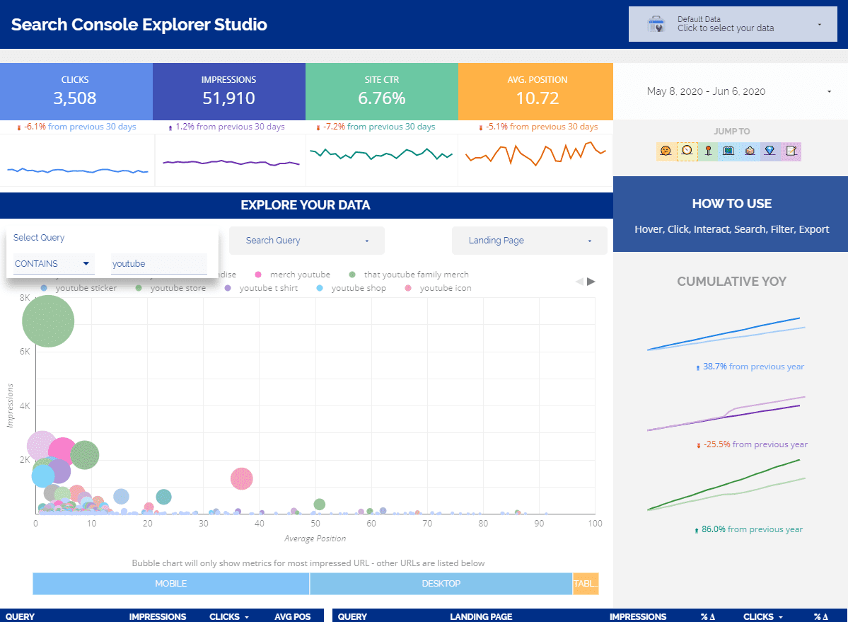 Search Console Explorer Studio